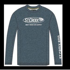 St CROIX FISHING long sleeve Heather performance